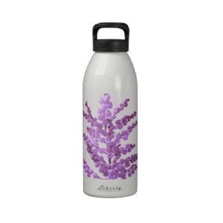 Flor de LILLY del LIRIO - violeta Voilet del alcoh Botella De Agua Reutilizable