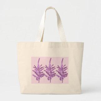 Flor de LILLY del LIRIO - violeta Voilet del alcoh Bolsa De Mano