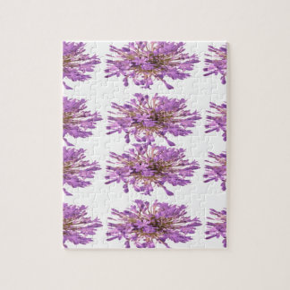 Flor de LILLY del LIRIO - Voilet violeta púrpura Rompecabeza