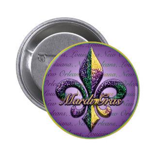 Flor de lis 2 de la gota del carnaval pin
