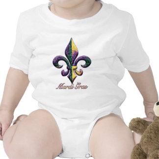 Flor de lis 2 de la gota del carnaval trajes de bebé