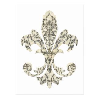 Flor de lis 3 de la tapicería postal