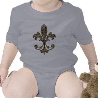 Flor de lis 4 de la tapicería trajes de bebé