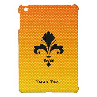 Flor de lis amarillo-naranja iPad mini cárcasas