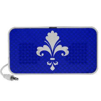Flor de lis azul iPhone altavoz