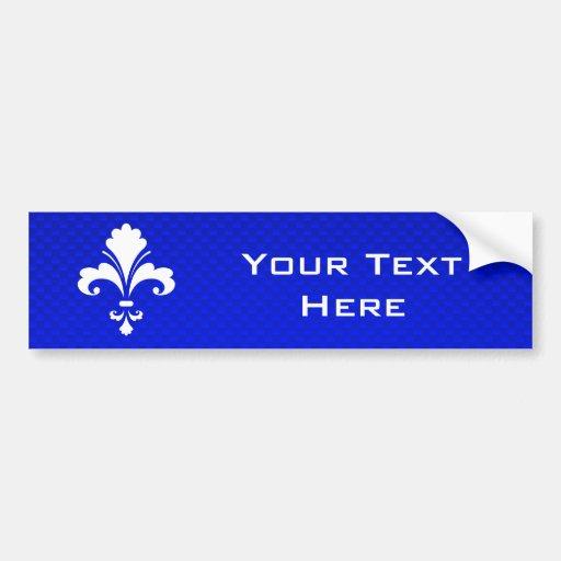 Flor de lis azul pegatina de parachoque