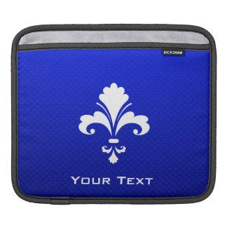 Flor de lis azul fundas para iPads