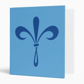 "Flor de lis: Azul profundo Carpeta 1"""