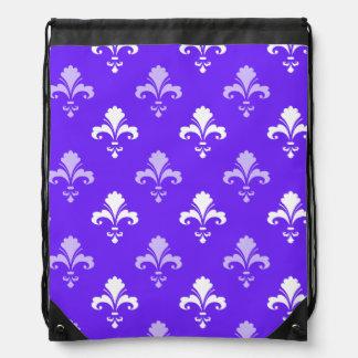 Flor de lis azul púrpura y blanca violeta