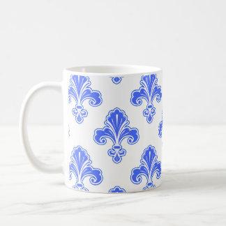 Flor de lis azul real y blanco
