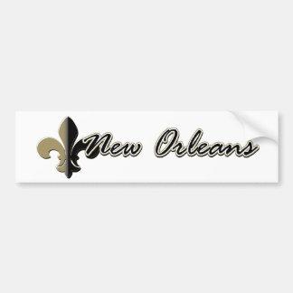 Flor de lis bk/gd de New Orleans Pegatina Para Auto
