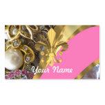 Flor de lis bling del oro plantilla de tarjeta de visita