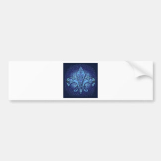 Flor-De-Lis,crest,flower- Bumper Sticker
