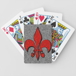Flor-De-Lis,crest,flower-lily,dynastic,coat-of-arm Bicycle Playing Cards