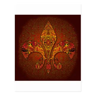 Flor-De-Lis,crest,flower-lily,dynastic,coat-of-arm Postcard