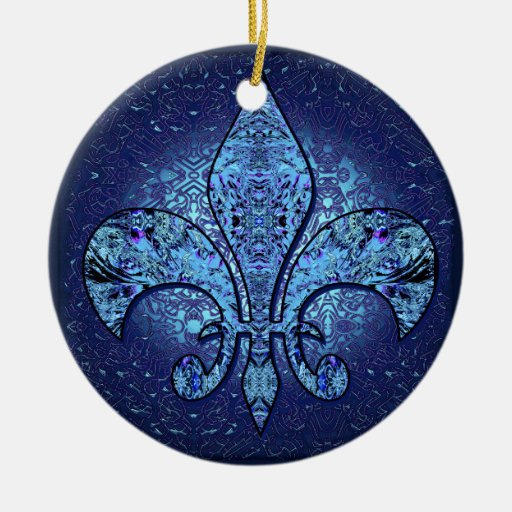 Flor-De-Lis,crest,flower- Christmas Tree Ornaments