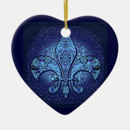Flor-De-Lis,crest,flower- Christmas Tree Ornament