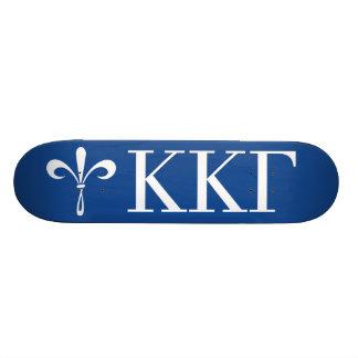 Flor de lis de KKG: Azul profundo Patineta Personalizada