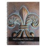 Flor de lis de la Envejecer-Mirada Cuadernos