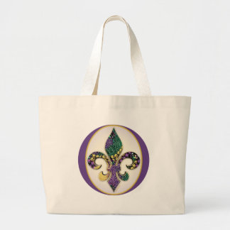 Flor de lis de la gota del carnaval bolsa de mano