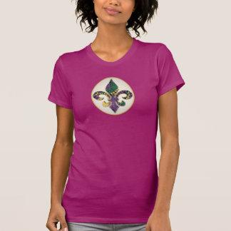 Flor de lis de la gota del carnaval camisetas