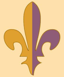 Flor de lis de la púrpura y del oro camisetas