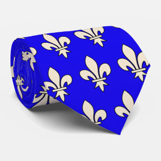 Flor de lis de la reina Blanche del OPUS - el Corbata Personalizada