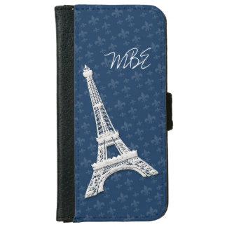 Flor de lis de la torre Eiffel Carcasa De iPhone 6