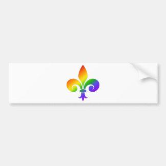 Flor de lis de lujo del arco iris pegatina para auto