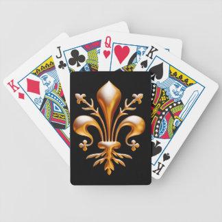 Flor de lis (de Lys) Baraja Cartas De Poker