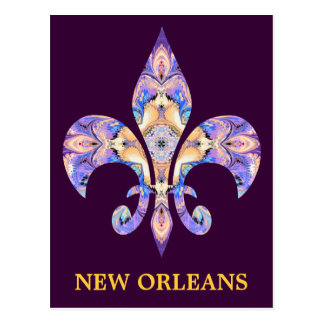 Flor de lis de New Orleans de la postal