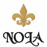 Flor de lis de NOLA New Orleans Camiseta Polo Bordada