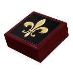 Flor de lis de oro caja de regalo