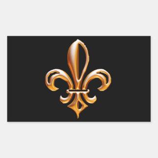 Flor de lis de oro francesa etiquetas