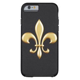 Flor de lis de oro funda para iPhone 6 tough