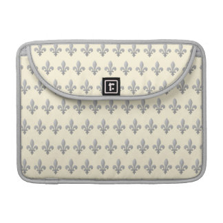 Flor de lis de plata Cornsilk floral Macbook favor Fundas Para Macbooks
