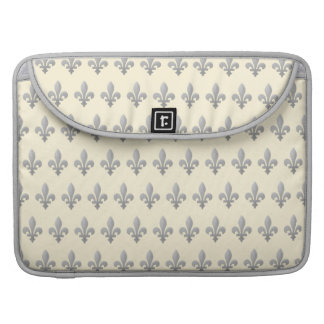 Flor de lis de plata Cornsilk floral Macbook favor Funda Para Macbook Pro