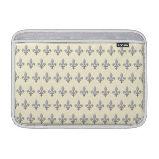 Flor de lis de plata Cornsilk floral MacbookAir 11 Fundas Para Macbook Air