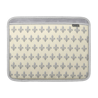 Flor de lis de plata Cornsilk floral MacbookAir 13 Funda Macbook Air