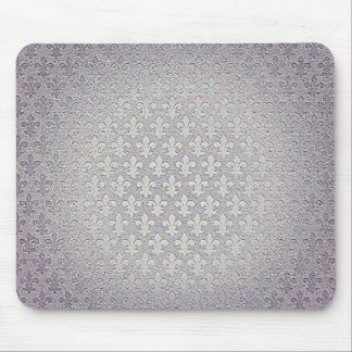 Flor de lis de plata gris simple del grunge alfombrilla de ratón