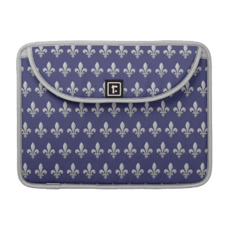 Flor de lis de plata Macbook azul floral favorable Fundas Para Macbook Pro