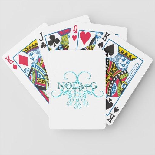 Flor de lis del camarón baraja cartas de poker