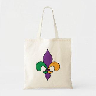 Flor de lis del carnaval bolsas