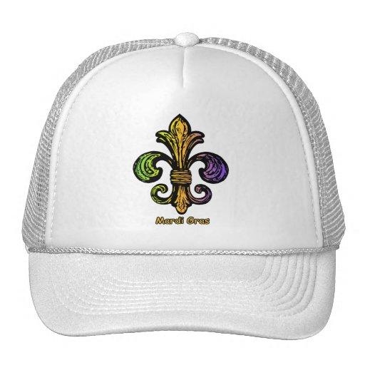 Flor de lis del carnaval gorra