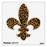 Flor de lis del estampado leopardo