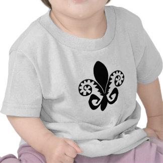 Flor de lis del Fest del jazz (b y w) Camiseta