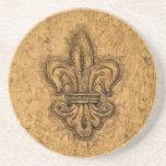 Flor de lis del francés de New Orleans Posavaso Para Bebida