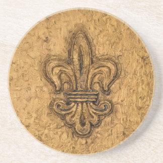 Flor de lis del francés de New Orleans Posavasos Manualidades