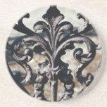 Flor de lis del hierro posavasos de arenisca