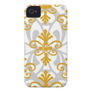 Flor de lis del oro Case-Mate iPhone 4 protector